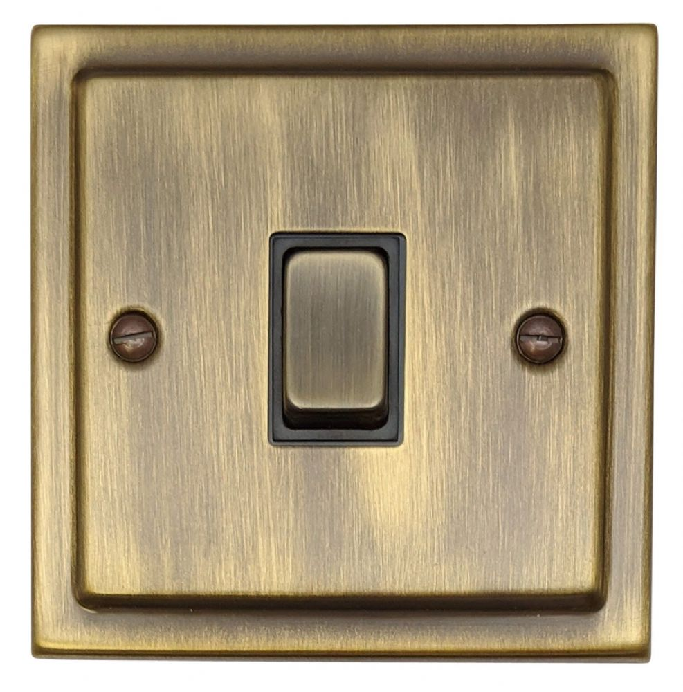 G&H TAB301 Trimline Plate Antique Bronze 1 Gang 1 or 2 Way Rocker Light Switch